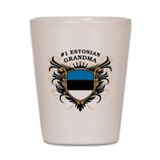 Number One Estonian Grandma Shot Glass