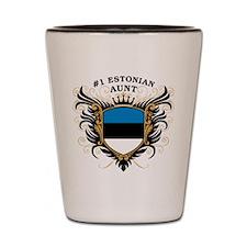 Number One Estonian Aunt Shot Glass