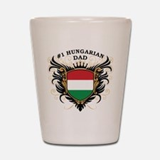 Number One Hungarian Dad Shot Glass