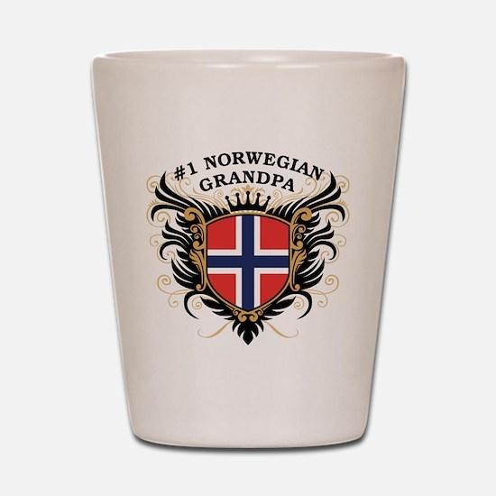 Number One Norwegian Grandpa Shot Glass