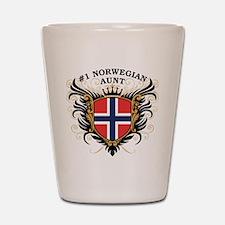 Number One Norwegian Aunt Shot Glass