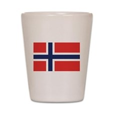 Flag of Noway Shot Glass