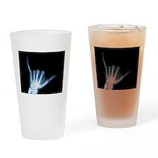 Shaka Sign X-Ray (Hang Loose) Pint Glass