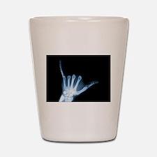 Shaka Sign X-Ray (Hang Loose) Shot Glass