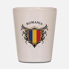 Romania Shot Glass