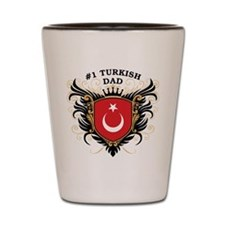 Number One Turkish Dad Shot Glass