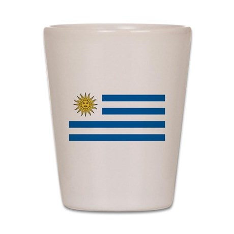 Flag of Uruguay Shot Glass