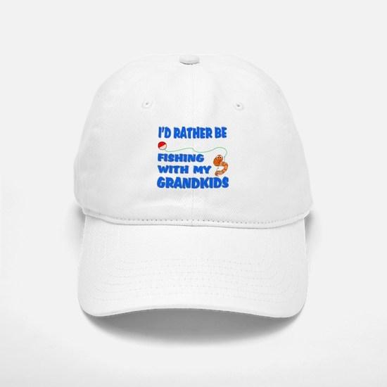 Rather Be Fishing With Grandk Baseball Baseball Cap