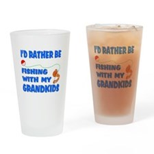 Rather Be Fishing With Grandk Pint Glass