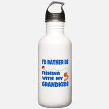 Rather Be Fishing With Grandk Water Bottle