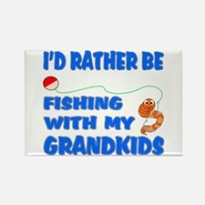 Rather Be Fishing With Grandk Rectangle Magnet