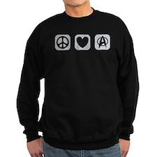 Peace Love Star Trek [b/w] Sweatshirt
