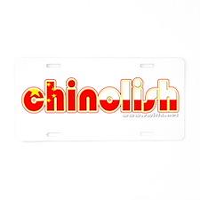 Chinolish Aluminum License Plate