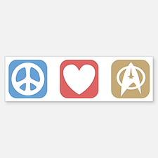 Peace Love Star Trek Bumper Bumper Sticker