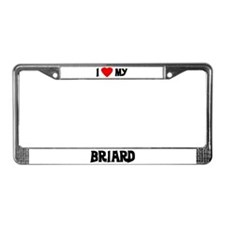 I Love My Briard License Plate Frame
