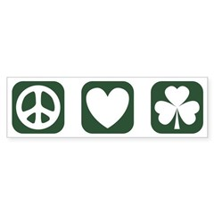 Peace Love Shamrock [gr] Bumper Sticker