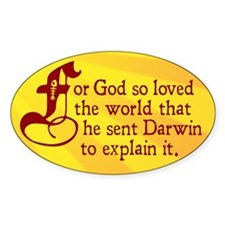 For God So Loved Darwin Decal
