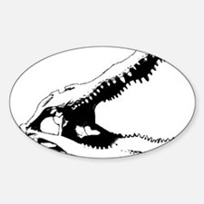 Alligator Skull Oval Decal
