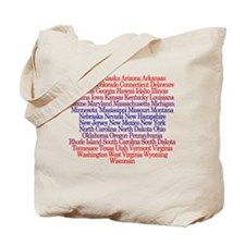 Fifty States Tote Bag