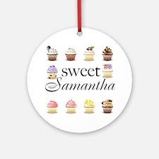 Sweet Samantha Ornament (Round)