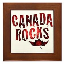 Canada Rocks Framed Tile
