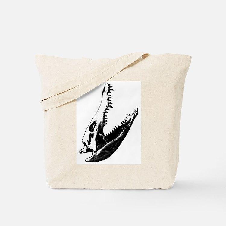 Crocodile Skull Tote Bag
