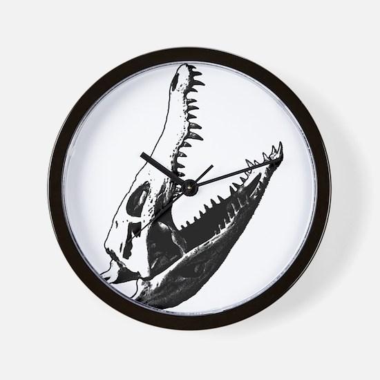 Crocodile Skull Wall Clock