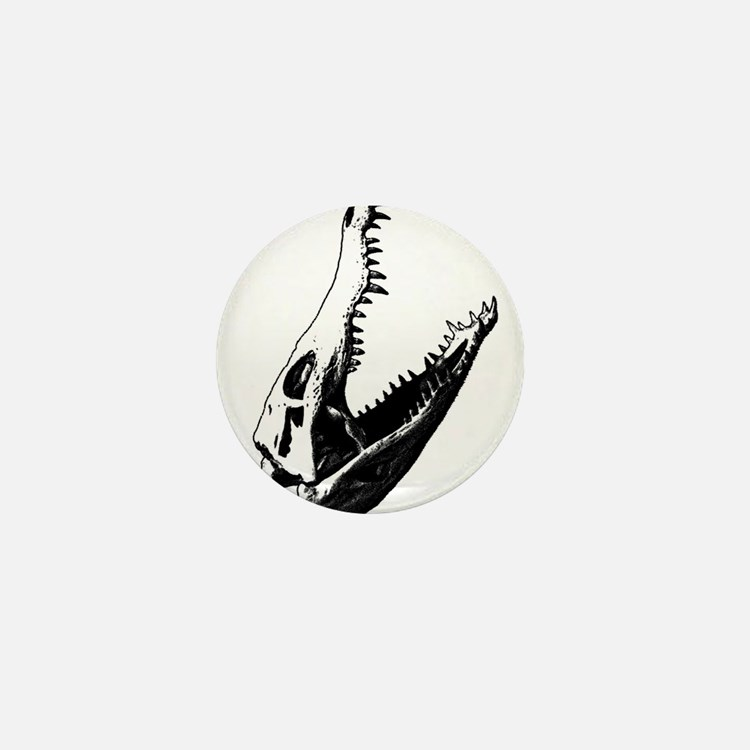 Crocodile Skull Mini Button