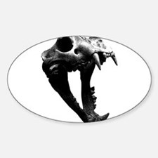 Lion Skull Oval Decal