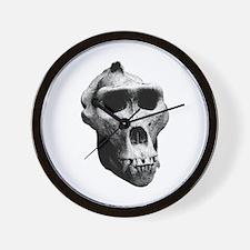 Lowland Gorilla Skull Wall Clock