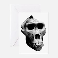 Lowland Gorilla Skull Greeting Cards (Pk of 10