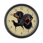 Rottweiler Large Wall Clock