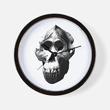 Orang Utan Skull Wall Clock
