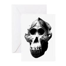 Orang Utan Skull Greeting Cards (Pk of 10)