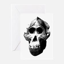 Orang Utan Skull Greeting Cards (Pk of 10)