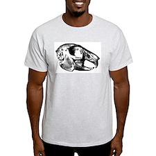 Rabbit Skull Ash Grey T-Shirt