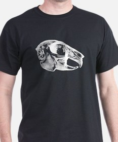 Rabbit Skull Black T-Shirt