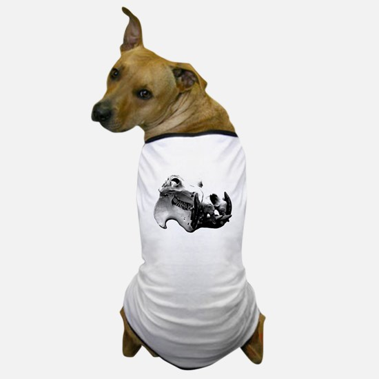 Hippopotamus Skull Dog T-Shirt
