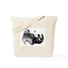 Hippopotamus Skull Tote Bag