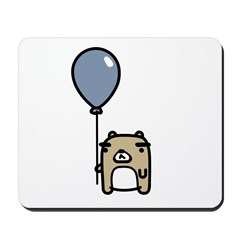 Bear With Blue Balloon Mousepad