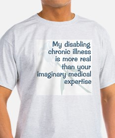 Blue Rose Chronic Illness Quote Ash Grey T-Shirt