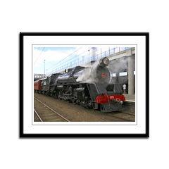 Steam locomotive Framed Panel Print