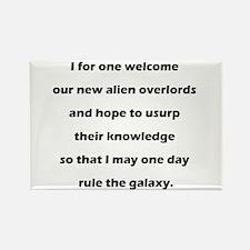 Alien Overlords Rectangle Magnet