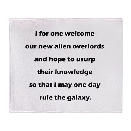 Alien Overlords Throw Blanket