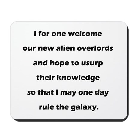 Alien Overlords Mousepad