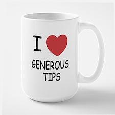I heart generous tips Mug