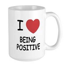 I heart being positive Mug