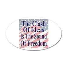 Sound of Freedom 22x14 Oval Wall Peel