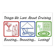 Boozing, Snoozing... Postcards (Package of 8)