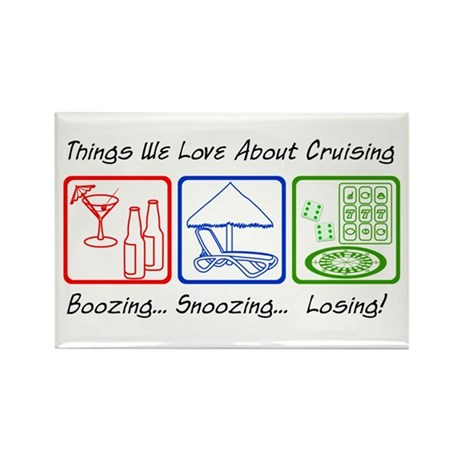 Boozing, Snoozing... Rectangle Magnet (100 pack)